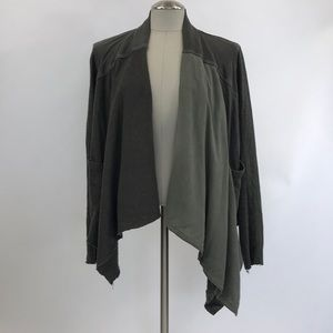 anthropologie olive green cardigan. Size S
